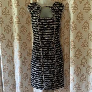 Cache Black & White striped sexy dress 10